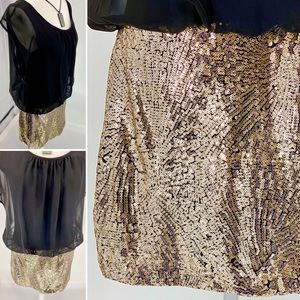 LOVE REIGN-Size M-Chiffon and Sparkle Mini Dress